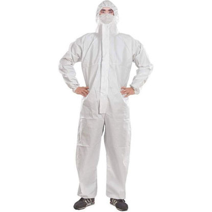 Picture of WHITE PROTECTIVE COVERALL - XL